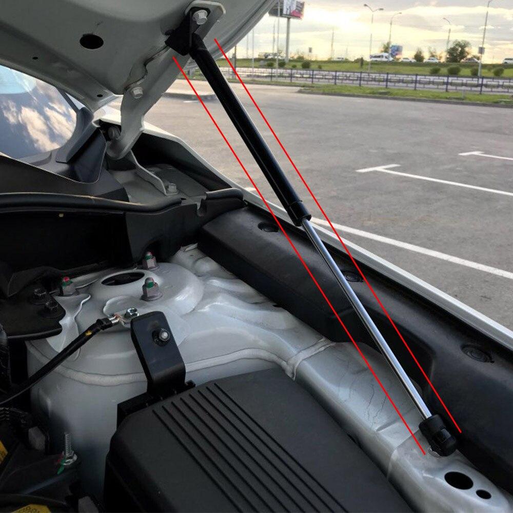 2 Pcs Front Bonnet Hood Lift Support Car Engine Cover Gas