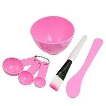 DIY Домашнее Маска Bowl Gauge Ложки Кисти Техника Розовый Для Женщин Уход Новый