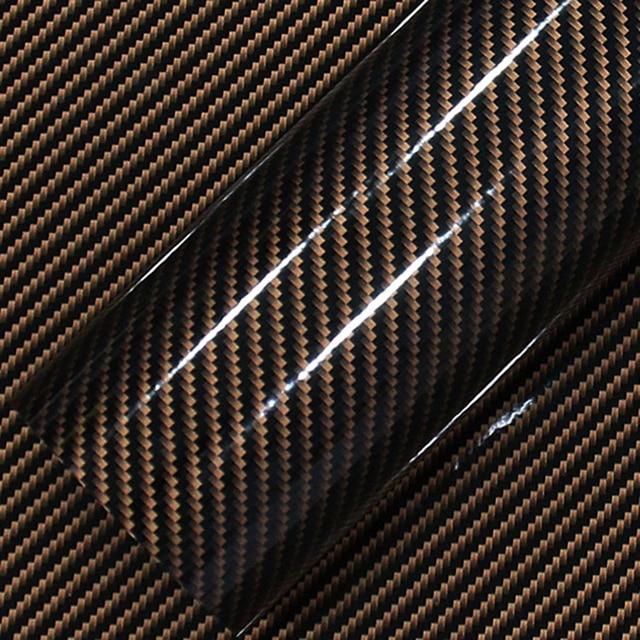 1 pcs 50*200 cm Preto 5D 5D Película Do Envoltório Do Carro De Fibra De Carbono Filme de Vinil Fibra de Carbono Etiqueta Do Carro auto Exterior Acessórios Filme