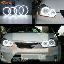Для Ford C-Max MkI 2008 2009 2010 галогенная фара отличное Ультра яркое освещение smd комплект светодиодов «глаза ангела» DRL