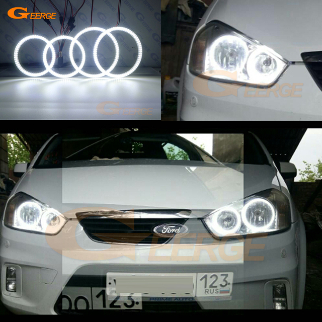 For Ford C Max Mki 2008 2009 2010 Halogen Headlight Excellent Ultra Bright Illumination Smd Led Angel Eyes Kit Drl