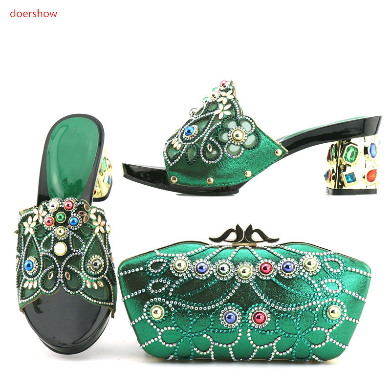doershow Women African Italian Shoes and Bag Sets Blue Color Matching Shoes and Bags Italy High Quality African Wedding  DA1-4doershow Women African Italian Shoes and Bag Sets Blue Color Matching Shoes and Bags Italy High Quality African Wedding  DA1-4