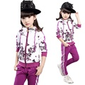 Autumn Children Clothing Girls Big virgin Piece Suit  With Pants Kids Clothes Sets Nova Tracksuit For Girls YL154