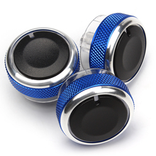 3PCS Car AC Knob Replacement Air Conditioning Heat Control Switch Knob For Ford Focus 2 MK2 Focus 3 MK3 Mondeo Car Styling