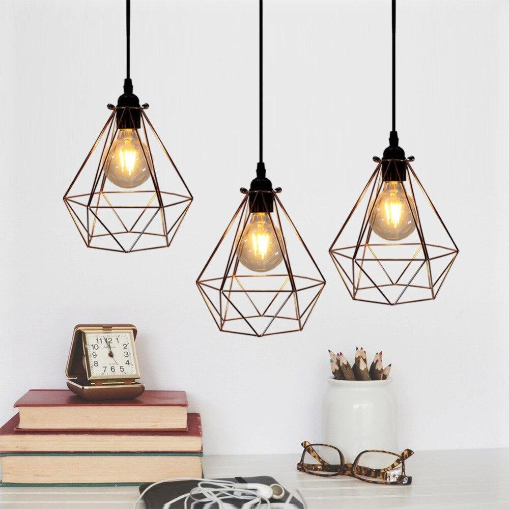 Függőlámpák könnyű vas ketrec függesztett lámpa aranyozott - Beltéri világítás