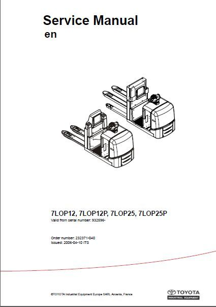 Forklifts Service Manual and Operators Manuals and Parts