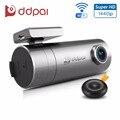 Ddpai mini2 traço cam dvr carro wi-fi 1440 p ultra hd câmera do carro gravador de lente giratória sem fio instantâneo auto camcorder