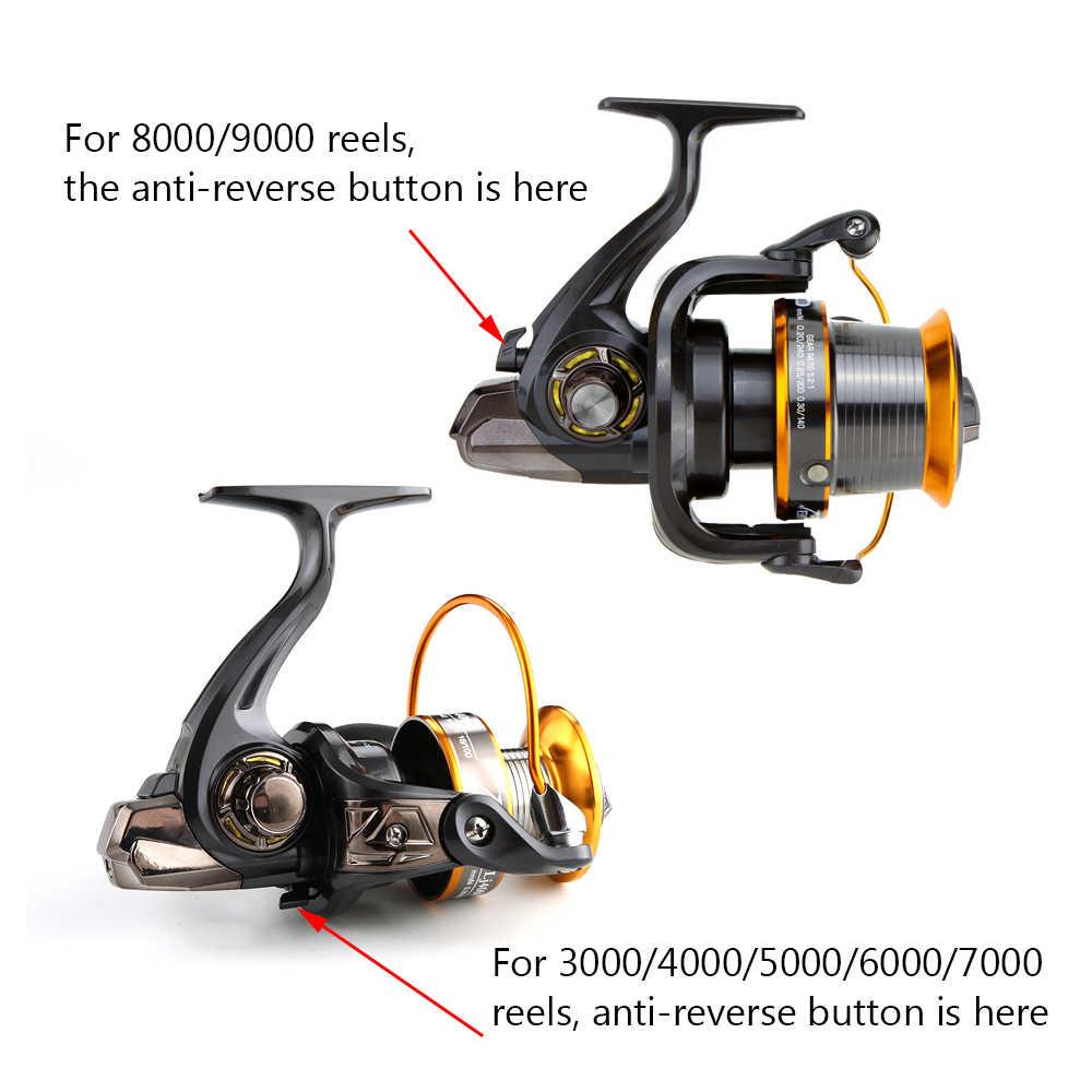 Fddl carpa carretel de pesca molinete de fiação alta velocidade 4.11: 1 12 + 1bb 13 rolamentos de esferas esquerda/direita lj9000 mar pesca roda metal