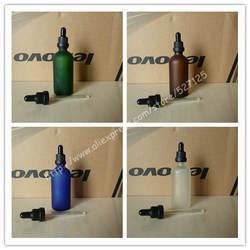 100 мл матовый прозрачный/зеленый/коричневый/синий стеклянная бутылка с белой пластиковой Anti-Theft кольцо черный /белая резина, бутылка с