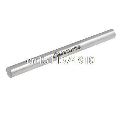 8mm x 100mm High Speed Steel HSS Lathe Turning Tool Bar Silver Tone 2mmx100mm hss graving tool round turning lathe carbide bars stick 20pcs