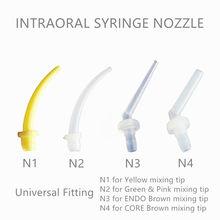 500 Pcs / Pack Dental Disposable Bahan Intraoral Impression Pencampuran Tips Nozel N1 N2 N3 N4 Mixer Syringe