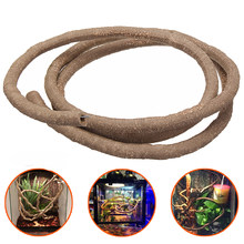 Habitat Decor Flexible Vines Bendable Lizards Spiders Jungle Climber 1.5/2.5/3m Pet Reptiles Terrarium Decoration Accessories(China)