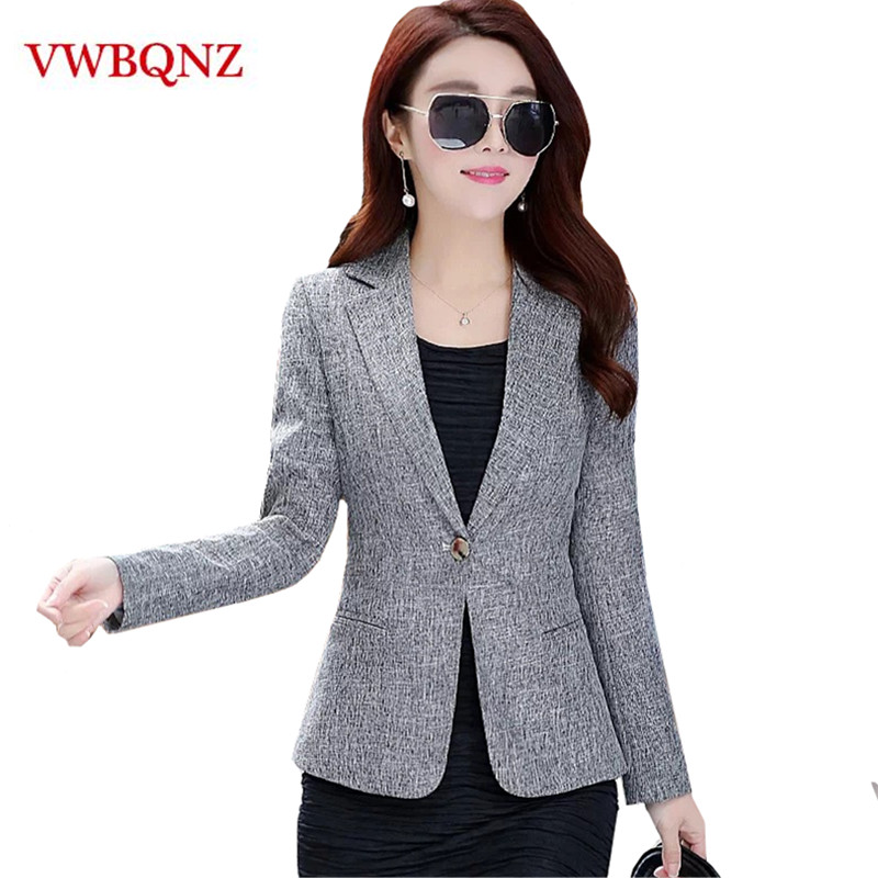 2019 New Spring Autumn Plus Size 4XL Womens Business Suits One Button Office Female Blazers Jackets Short Slim Blazer Women Suit