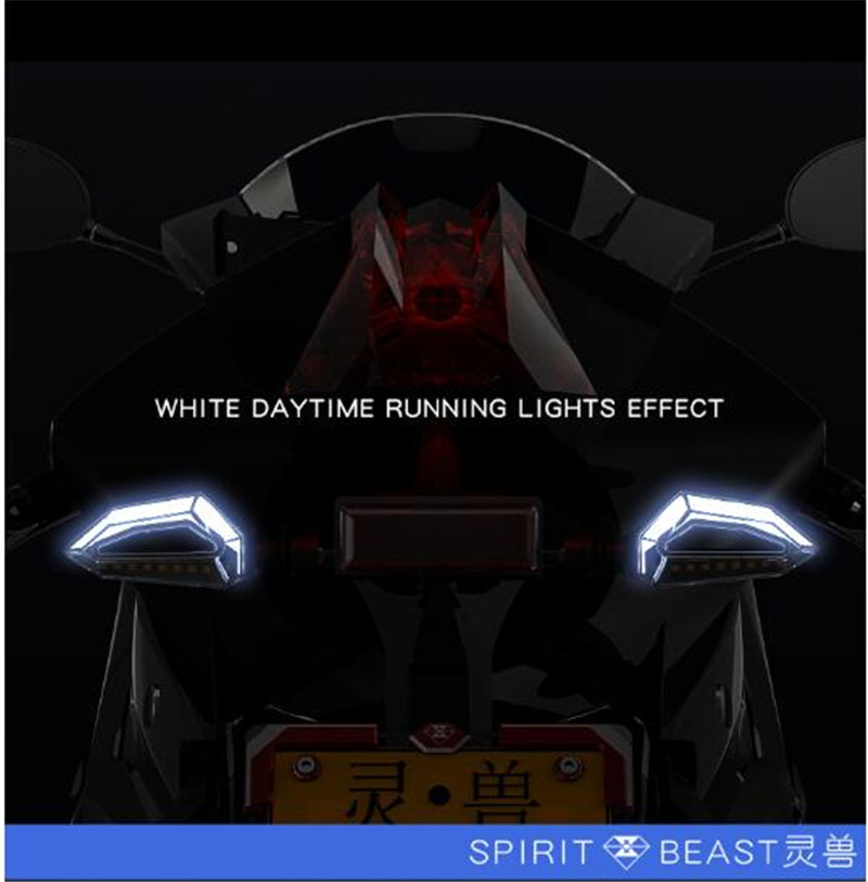 SPIRIT BEAST Motorcycle Signal Lights Steering Bike Accessories LED Turn Signal Daytime Lights Motocross High Brightness Blinker in Motorcycle Switches from Automobiles Motorcycles