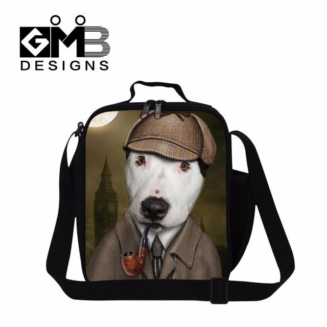 Almuerzo bolsos más frescos para hombre personalizada mochila bolso del almuerzo con correas de hombro lindo perro adulto almuerzo aislada bolsas bolsa comida