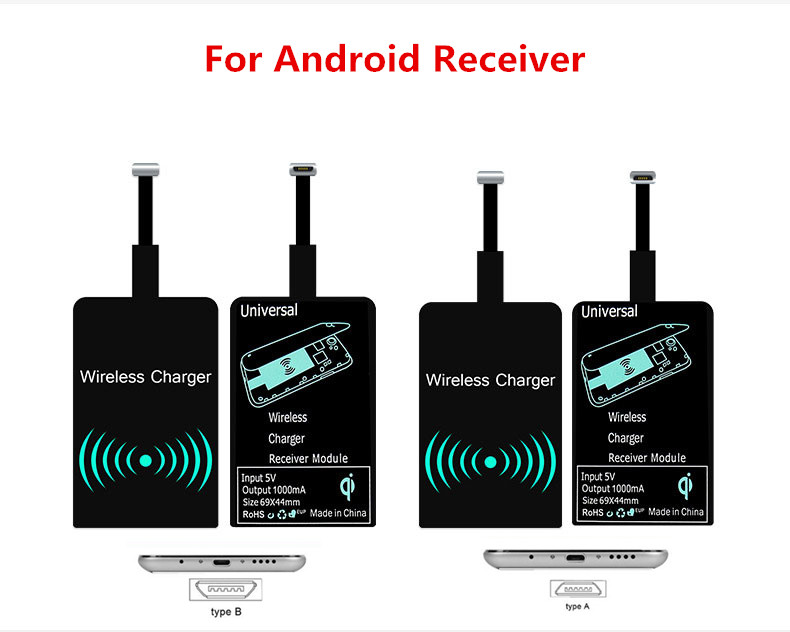 QI Wireless Charger Receiver Micro USB Universal Charging