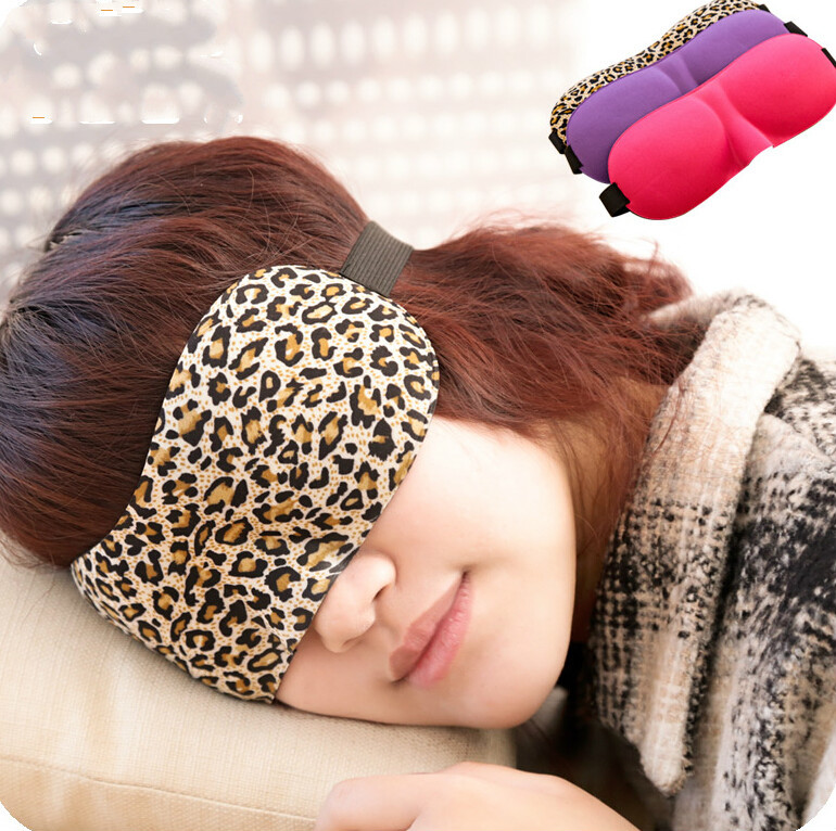 Leopard 3D cut eye sleep mask comfort eyeshade sleeping eye mask