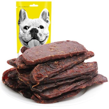 Beef slice 200g beef stick dried meat pet dog nutrition delicious snacks calcium supplement training award