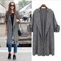 Горячие Продажа 2016 Женская Мода Плащ Длинный Пиджаки Тонкий Плащ Женщины C148