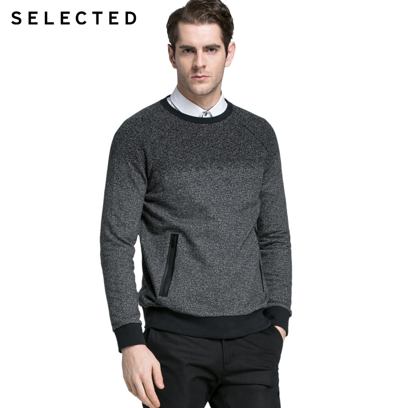 SELECTED Brand NEW HOT men fashion 100 cotton long sleeve o neck casual knit sweater male