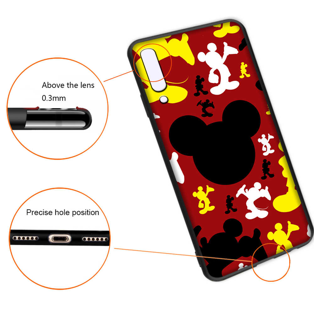 Mickey Soft Case untuk Samsung Galaxy A5 A6 A7 A8 A9 Plus A10 A20 A30 A40 A50 A60 A70 M40 cover