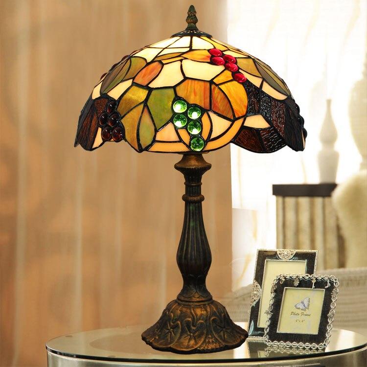 new retro glass bedroom bedside table lamp fashion wine restaurant hotel decorative lamp gold hotel wine