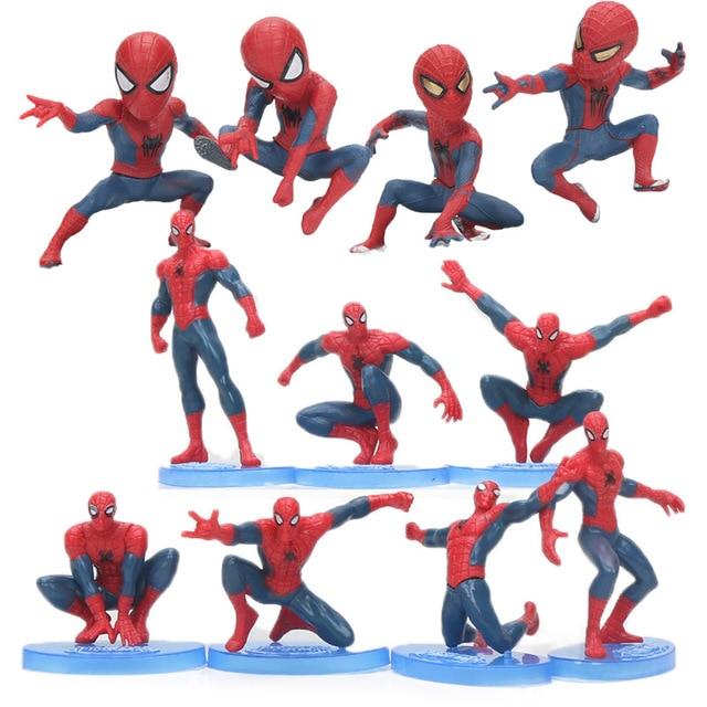 Endgame 6-11 cm 7 pcs Vingadores Spiderman PVC Action Figure the Amazing Spider Man Collectible Modelo Bonecas Brinquedos brinqudoes