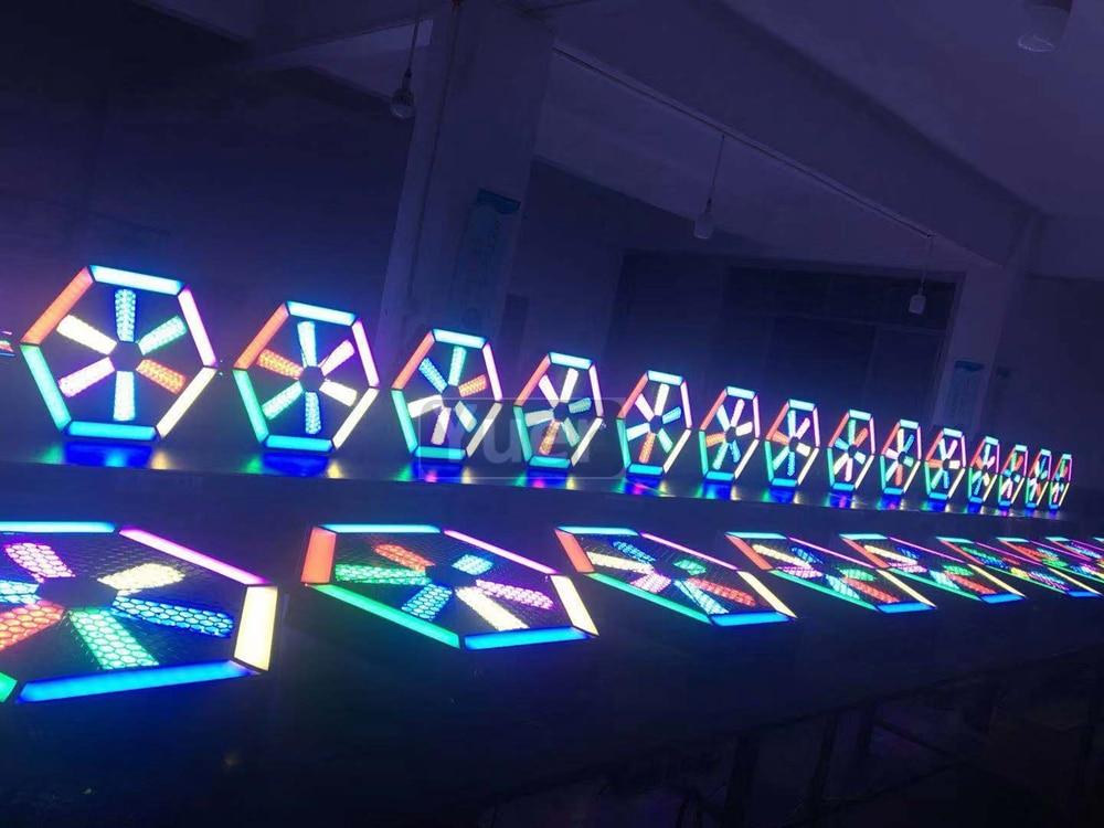 2 шт./лот современный Декор лампы 200 Вт светодиодный вентилятор эффект света светодиодный подвесной настенный светильник Бар KTV DJ диско микро освещение поворотной сцены - 6