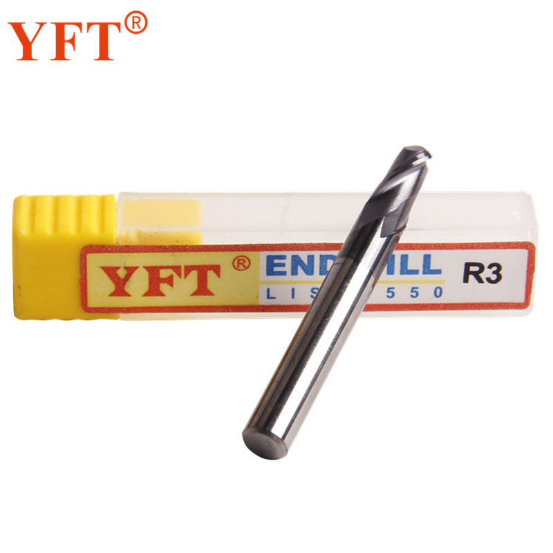 YFT 1PC End Mills Carbide Ball Radius 3mm 2-blade HRC 55 Degrees Tungsten Carbide Milling Cutters Router Bit CNC Tools yft carbide ball end mills radius 4mm router bit 2 blade hrc 60 milling cutter face cutter straight cnc tools