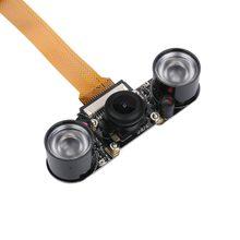 Raspberry pi zero câmera módulo visão noturna grande ângulo fisheye 5mp webcam com infravermelho ir sensor de luz led para rpi zero