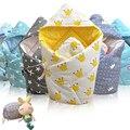 O Lindo 1 Única Volta de Apoio Superior Cobertor Do Bebê Swaddle Orgânica com Almofada, hipoalergênico, perfeito para o Bebê Chuveiro 0-