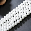 Pick Size 4MM 6MM 8MM 10MM 12MM Fashion Semi-finished Round White Natural Stone Beads for Making Jewelry Drop Shipping