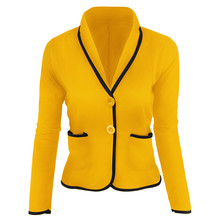 M Womens Jacket Casual Slim Small Suit Temperament Commuter Office Solid Color Lady Blazer