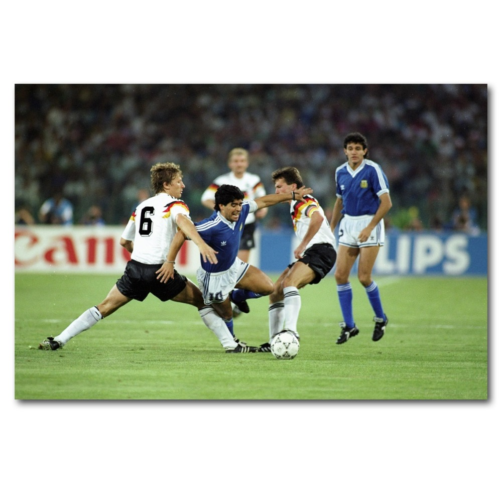 Football Legends Wall Art Large Poster /& Canvas Pictures Zidane Maradona Pele