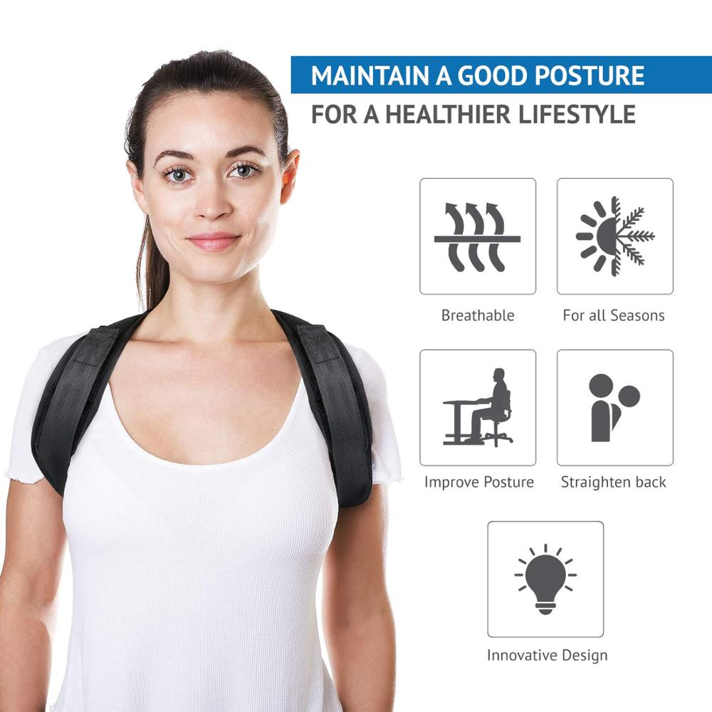 The New Posture Corrector Back Support brace Clavicle Support back Brace corrector for Women and Men in Braces Supports from Beauty Health