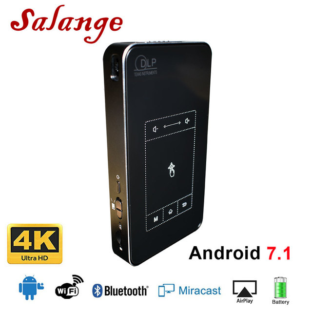 Best Price Salange T18 DLP Projector Android 7.1.2 Support AC3 HD 1080P Video Game Beamer Home Theater LED Projector Bluetooth Airplay DLNA