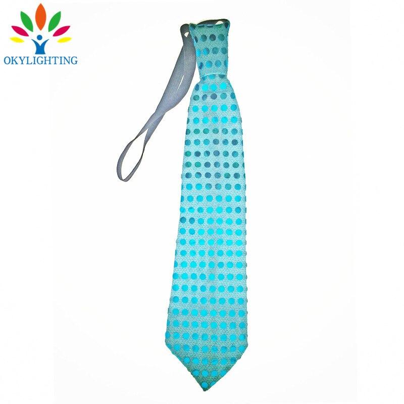 5pcs / lot vodio svjetleći vrat kravata Mixcolor treperi muško / - Za blagdane i zabave - Foto 5
