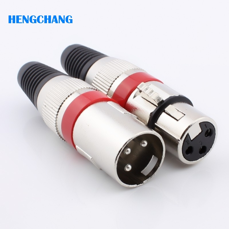 Free shipping 3Pin XLR connector Female and Male connector Microphone connector MIC Adapter 10pcs/lot 2pcs lot 1pcs nc3mxx & 1pcs nc3fxx neutrik male and female a set 3pin xlr connector black original song xin is fake piracy