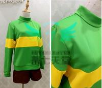 2018 hot Anime! Undertale Chara Frisk Blue Green Hoodie Healthy Fabric Sweater Custom made Size Cosplay Costume Free Shipping