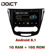 IDOICT Android 8.1 Car DVD Player GPS Navigation Multimedia For Nissan Qashqa Rogue Radio 2016 car stereo