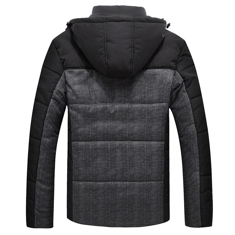 Winterjas Heren zwarte puffer jas warme mannelijke jas parka uitloper - Herenkleding - Foto 2