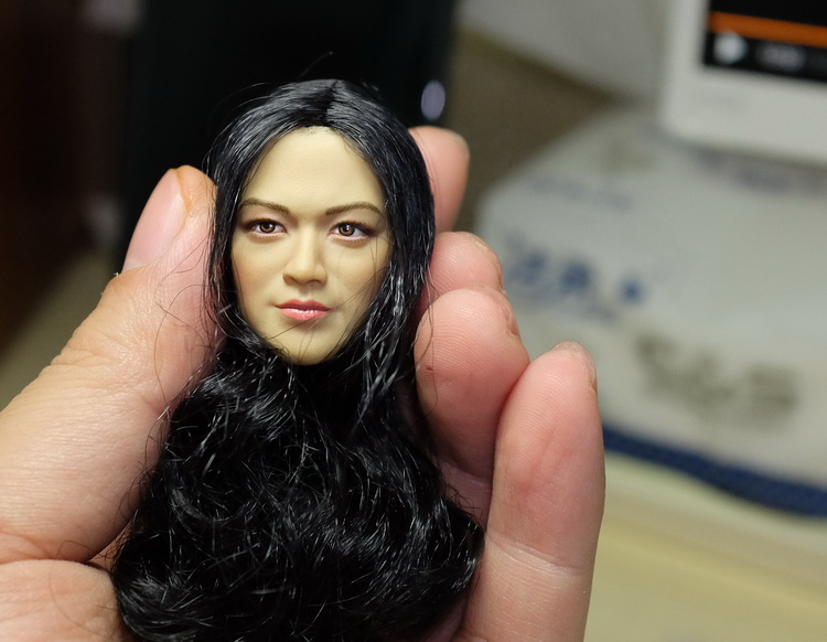 купить 1:6 scale Female Figure accessories Asian pretty girl Tang Wei head shape carved for 12