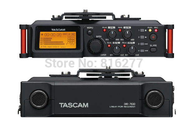 TASCAM DR 70D professional 4 Channel Recorder for SLR Audio Micro film recording Four channel recorder