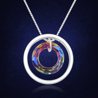 Luxury Choker Necklace Pendant For Women Genuine With Swarovski Elements Austrian Crystal Party Wedding Fashion Colar