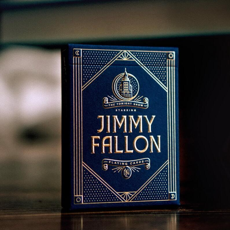 1 Pcs Jimmy Fallon Playing Cards Premium Poker Magic Performance Tonight Show Deck New Sealed Magic Props Magia Tricks Elegant In Smell