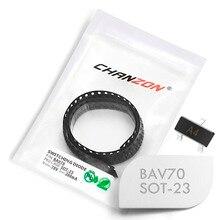 Diodos de conmutación rápida BAV70 SMD, 100 Uds., señal pequeña, 200mA, 70 V, SOT 23 (SOT 23 3), 200 mA, 70 voltios (marcado A4)