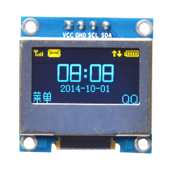 0.96 Inch 4Pin Blue Yellow IIC I2C OLED Display With Screen Protection Cover For Arduino