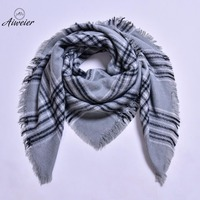 Aiweier Women S Shawl Scarves For Woman Bandanas Autumn Winter Plaids Adult Fashion Korean Style