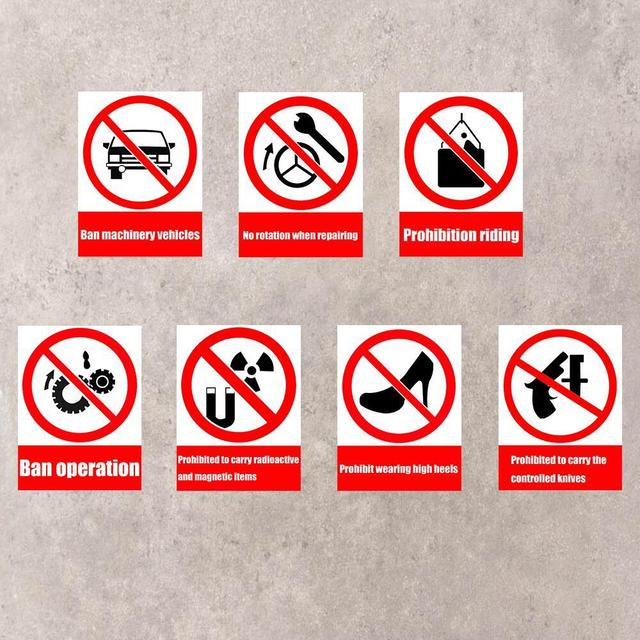 1pc 15x20cm for schools hotels the mall warning stickers decoration warning safety sign sticker universal ban