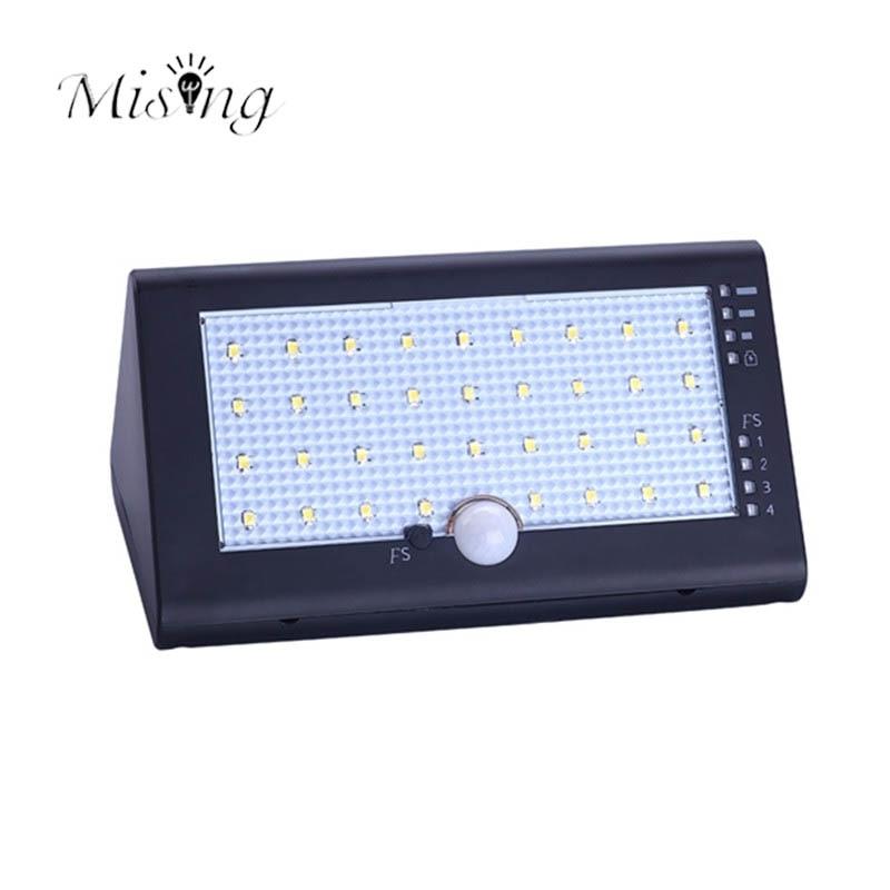Mising 35 LED PIR Motion Sensor Waterproof Outdoor Solar Lamp Garden Light Pathway Wall Lamp Landscape Decoration Lights